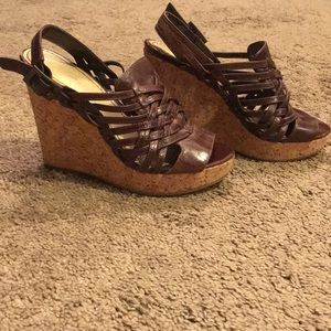 Brown wedge sandals from Nordstrom